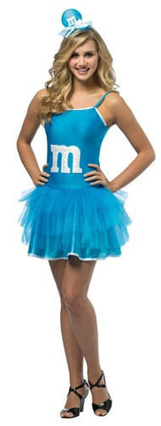 Teens Blue M&Ms Party Dress - HalloweenCostumes4U.com - Adult Costumes