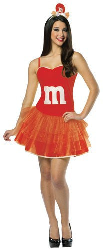 Womens Red M&Ms Party Dress - HalloweenCostumes4U.com - Adult Costumes