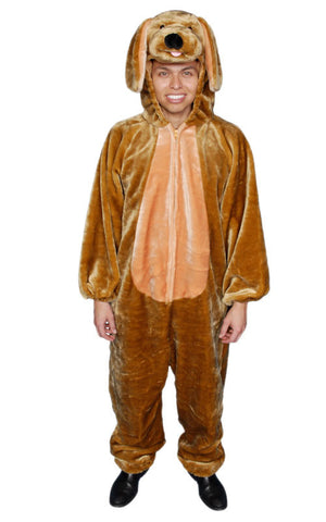 Adults Brown Puppy Costume - HalloweenCostumes4U.com - Adult Costumes