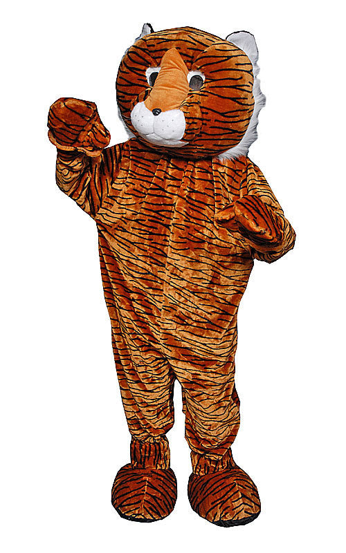 Adults Tiger Mascot Costume - HalloweenCostumes4U.com - Adult Costumes