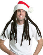 Rasta Santa Hat with Dreadlocks - HalloweenCostumes4U.com - Accessories
