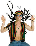 Adults Jamaican Rasta Costume Kit - HalloweenCostumes4U.com - Accessories