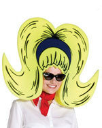 Yellow Foam Bouffant Wig