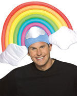 Clouds & Rainbow Hat - HalloweenCostumes4U.com - Accessories