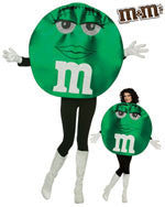 Womens Green Deluxe M&Ms Costumes - HalloweenCostumes4U.com - Adult Costumes