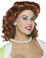 Red Vintage Housewife Wig