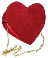 Red Velvet Heart Purse - HalloweenCostumes4U.com - Accessories