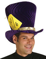 Purple Mad Hatter Top Hat
