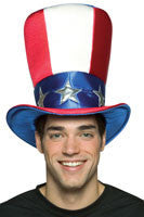 Deluxe Uncle Sam Top Hat - HalloweenCostumes4U.com - Accessories