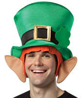Irish Leprechaun Top Hat with Ears - HalloweenCostumes4U.com - Accessories