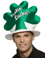 Feelin' Lucky Shamrock Hat - HalloweenCostumes4U.com - Accessories
