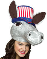 Democratic Donkey Hat - HalloweenCostumes4U.com - Accessories