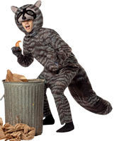 Mens Raccoon Costume - HalloweenCostumes4U.com - Adult Costumes