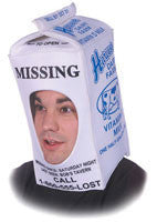 Milk Carton Head Cover - HalloweenCostumes4U.com - Accessories