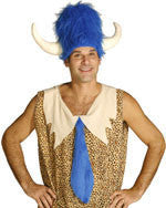 Blue Furry Lodge Hat with Horns - HalloweenCostumes4U.com - Accessories