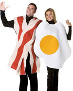 Adults Bacon and Eggs Costume Set - HalloweenCostumes4U.com - Adult Costumes