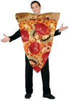 Adults Pizza Slice Costume - HalloweenCostumes4U.com - Adult Costumes
