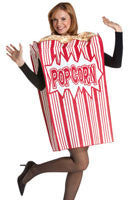 Adults Popcorn Box Costume - HalloweenCostumes4U.com - Adult Costumes