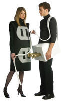 Adults Plug and Outlet Costume Set - HalloweenCostumes4U.com - Adult Costumes