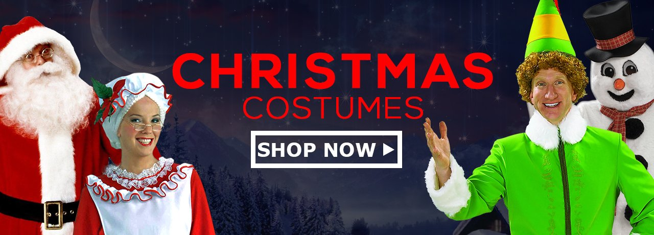 Christmas Costumes, Santa Suits & Christmas Accessories - HalloweenCostumes4U.com