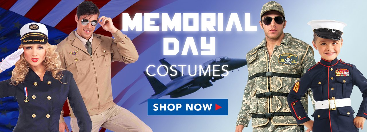 Memorial Day Costumes & Accessories from HalloweenCostumes4U.com