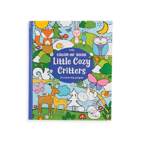 Color-In' Books by Ooly Enchanting Unicorns, Princesses & Fairies, Little Cozy Critters