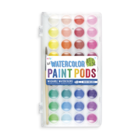 Ooly Lil' Watercolor Paint Pods Set of 36 with Brush
