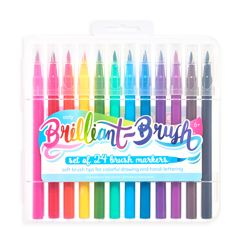 Ooly Brilliant Brush Markers Set of 24