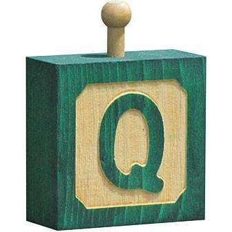 Hang-A-Name Letter Block Q