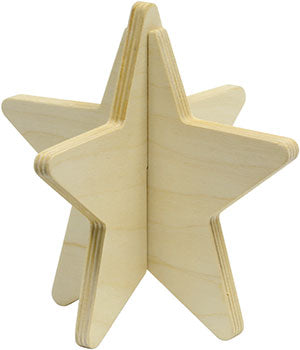 Wooden Star Christmas Kit by Maple Landmark