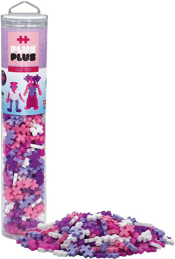 Plus Plus Glitter Mix 240 pc Tube & Bundle Package