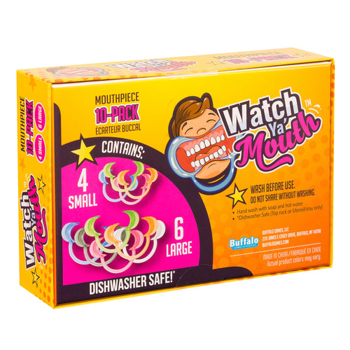 Buffalo Games & Puzzles - Watch Ya' Mouth - Mouthpiece Pack of 10