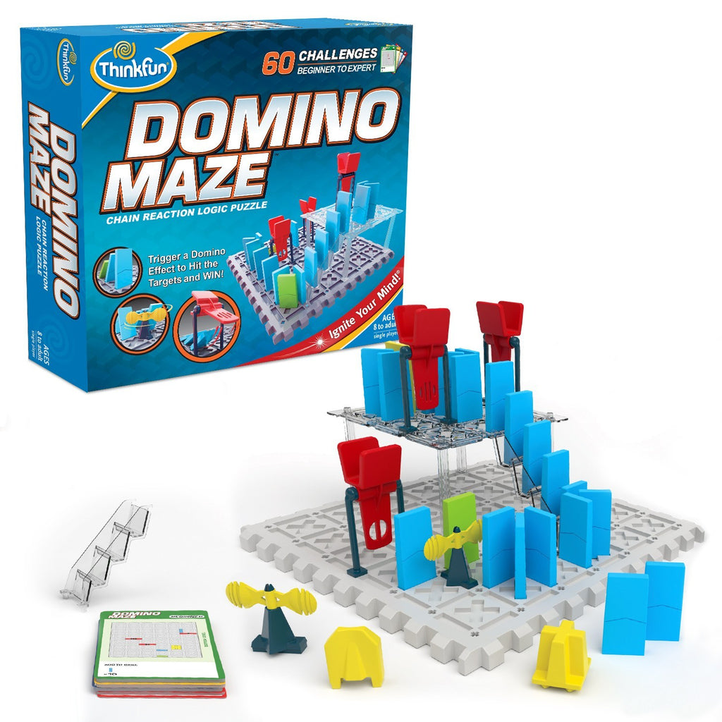 ThinkFun Domino Maze Chain Reaction Logic Puzzle