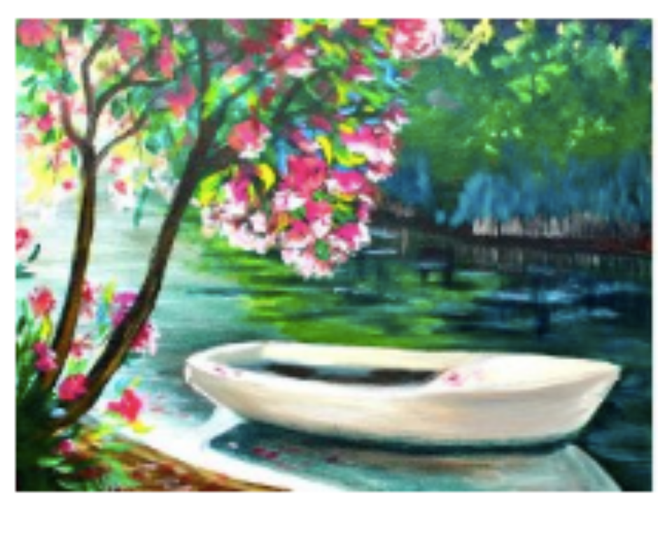 Spring Flowers Online Acrylic Painting Classes