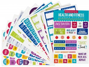 Peter Pauper Press Planner Stickers, Health & Fitness