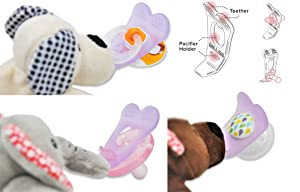 NISSI & JIREH - 4 in 1 Pacifier Holder Teether, Bear