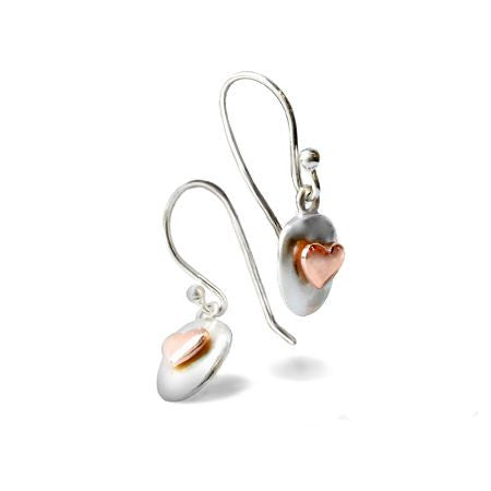 Blushing Hearts Drop Earrings
