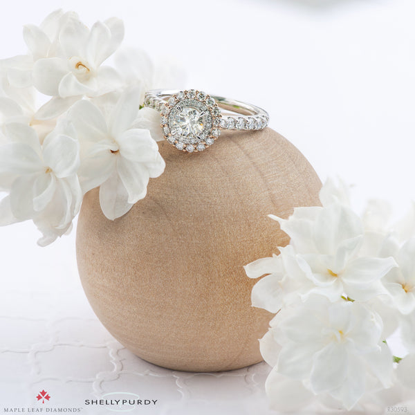Diamond Lily Petals Engagement Ring