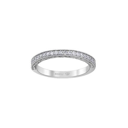 Crafted in 18kt Pure White™, this band features frost-inspired engravings set with round brilliant-cut Canadian diamonds.