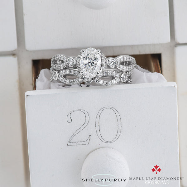 Lily Infinity Oval Engagement Ring