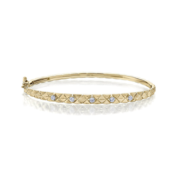 Quilted Down Bangle