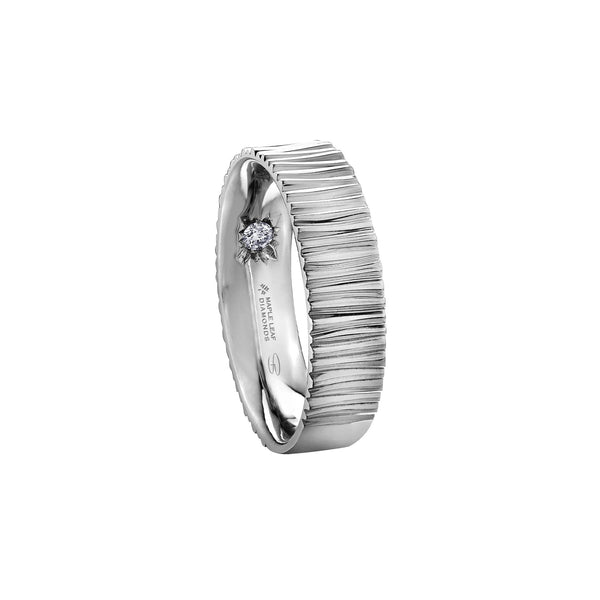 Rippling Stream Wedding Band