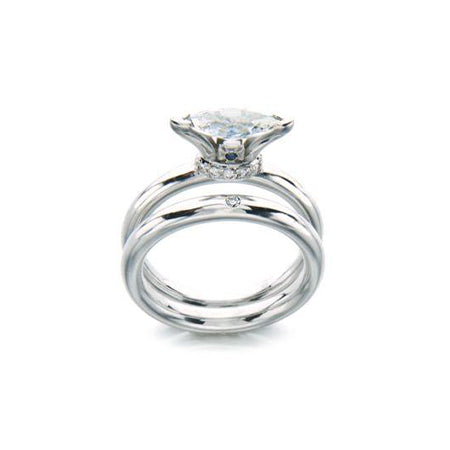 """The Royals Marquise Ring"" with matching band ""The Royals Single Diamond Band"""