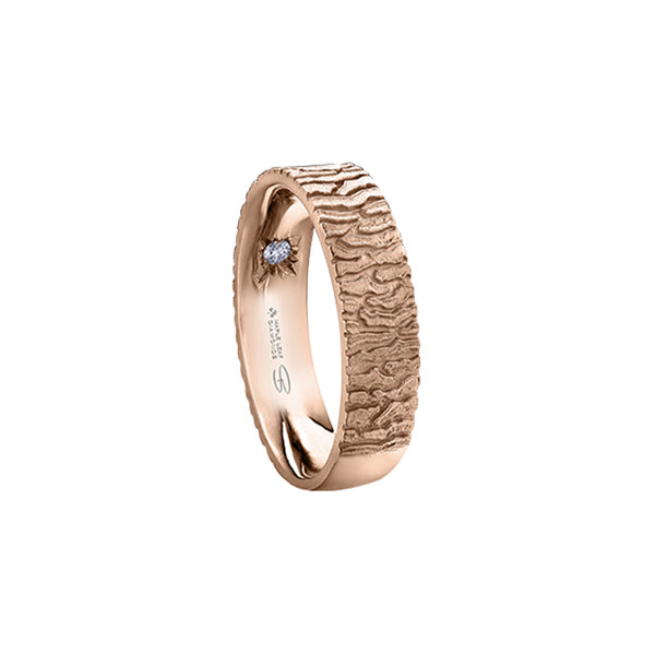 Maple Bark Wedding Band