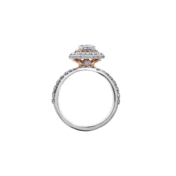 Maple Double Halo Ring