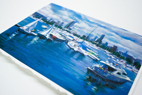 """Burnham Vision"" - Greeting Card of Chicago's Burnham Harbor"