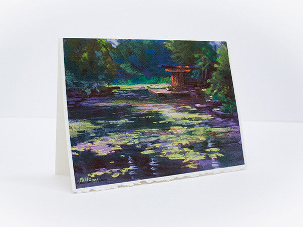 """Caldwell Lily Pond"" Greeting Card"