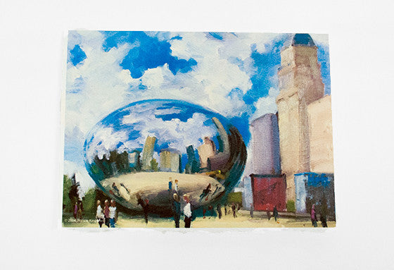 """Cloud Gate"" Greeting Card of Millenium Park"