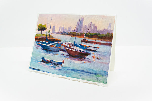 """Harbor At Montrose"" – Greeting Cards"