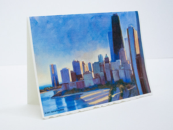 """Long Shadows on Lakeshore"" – Greeting Card"